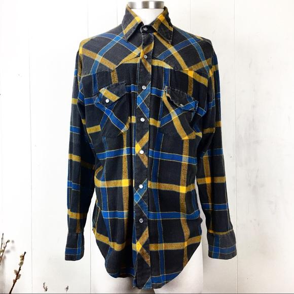 Lariat Other - Lariat 100% Cotton Western Plaid Flannel Medium